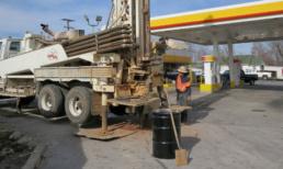 Karst site gasoline release