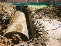 storage tank in ground